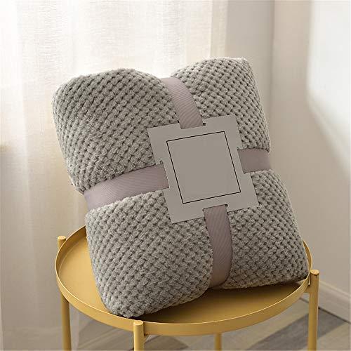 Leichte Korallenvlies Decke, Morbuy Kuscheldecke Sofadecke Bettüberwurf Erhältlich Decke Tagesdecke Decke für Sofa & Bett Falten-widerstandsfähig Schmusedecke (120x200cm,grau)