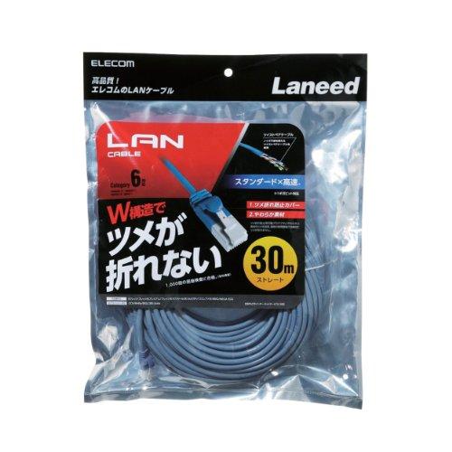 エレコム LANケーブル CAT6/爪折れ防止/30m ブルー LD-GPT BU300 1個 ELECOM