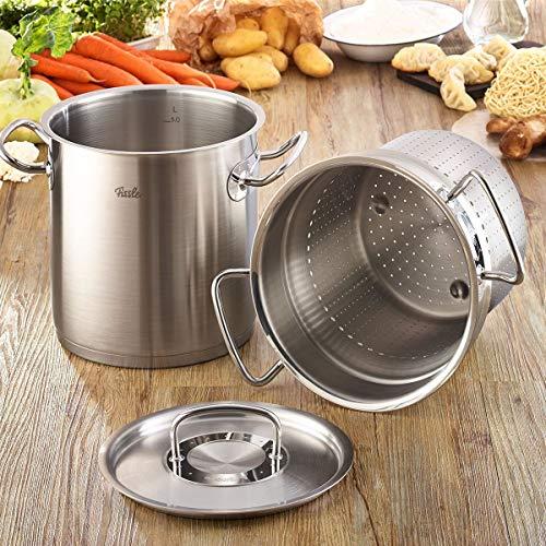 フィスラー(Fissler)両手鍋パスタ鍋マルチスター20cmプロコレクションステンレスガス火/IH対応ドイツ製オーブン使用可食器洗い機対応シルバー084-103-20-002