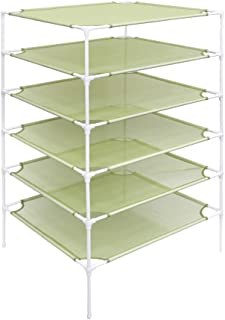 Growsun Sweater Drying Rack 6-Layer Stackable Cloth Mesh Dry Net,Green(Connector Updated)