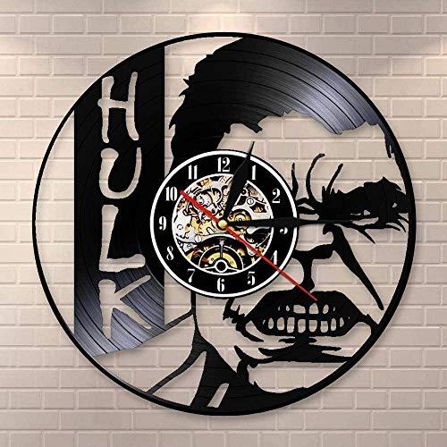 Fat Man Music Disco de Vinilo Reloj de Pared Arte Decoración de la habitación del hogar Juego de Regalo de músico Idea para Amantes de la música Reloj LP de 12 Pulgadas Negro