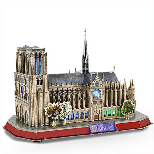 GWQDJ Puzzles 3D Notre Dame De Paris Jigsaw Puzzle DIY Building Model Kits Regalo para niños y Adultos