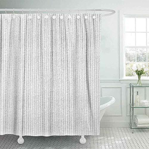 Dethel Shower Curtain, 78X72 Kids Shower Curtain Shower Curtains for Bathroom White Natural Plush Terry Cloth Turkish Bath Beach Bathroom Towel Textured Shower Curtain for Kids Modern Shower Curtain