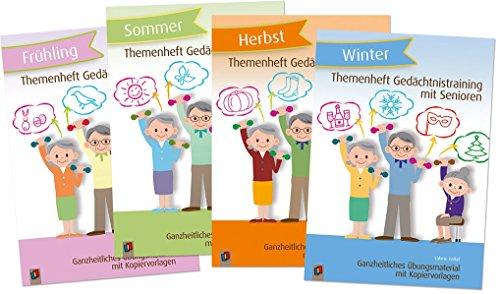 Paket: Themenhefte Gedächtnistraining Jahreszeiten: Enthält alle vier Bände des Gedächtnistraining für Senioren: Frühling, Sommer, Herbst und Winter: ... mit Senioren und Seniorinnen)