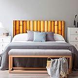 setecientosgramos Cabecero Cama PVC | Bambú | Varias Medidas | Fácil colocación | Decoración Dormitorio (115x60cm)