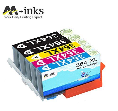 AA+inks 5 confezioni di ricambio per Sostituito per cartucce d'inchiostro HP 364XL 364 Compatibile con HP Photosmart 6520 5510 7510 7520 6510 5515 5520 C5380 B110a Stampanti HP OfficeJet 4620 4622