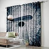 LWXBJX Cortinas Opacas Dormitorio Termicas - Azul Nieve Bola -...