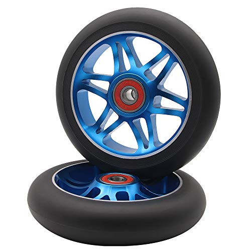 Z-FIRST 2Pcs 110mm Pro Scooter Wheels with ABEC 9 Bearings