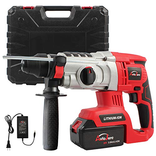 20V Max/18V 1 inch SDS-plus Cordless Rotary Hammer Drill, AUTOJARE Brushless Rotary Hammer Drill Kits Includes 3.0Ah Lithium Battery & Charger