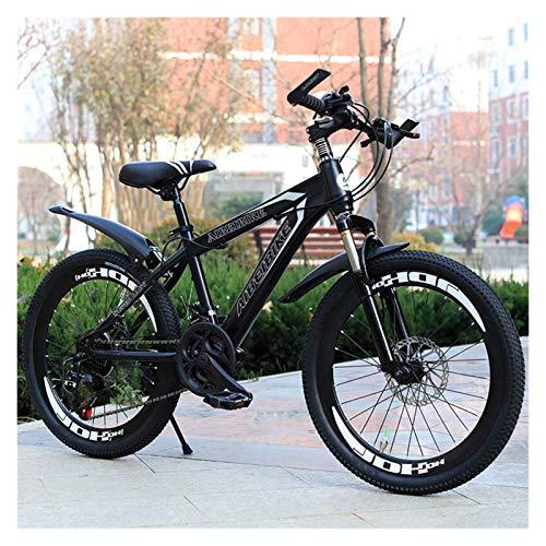Conveniente Bicicleta de montaña Adulta 20/22/24/26 Pulgadas Rueda Variable Velocidad Hombres Mujeres Carretera Deportes Ciclismo Racing Paseo (Color : Black, Size : 21 Speed)