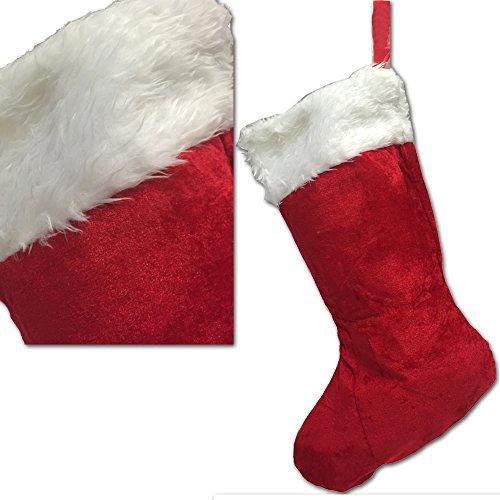 JEMIDI XL Nikolaussocke Weihnachts Socke Nikolaus Stiefel befüllen Strumpf Weihnachten Weihnachtssocke Nikolausstrumpf