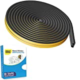Specifications - Material: EPDM Foam Rubber Shape D type foam seal strip Length: 5 Meters (16.5 feet) Color: Black ; Size (approximately): 9 x 6mm (Bottom W X T) Suitable gap: 3-6 mm Package Includes: 2Layers x 2.5M D type Foam Seal Strip = 5 meter M...