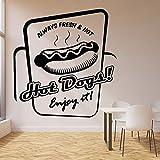 Calcomanías de pared para perros calientes comida rápida fresca cocina café camión logotipo de la cocina decoración de interiores puertas y ventanas pegatinas de vinilo papel tapiz artístico