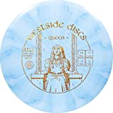 Westside Discs Origio Burst Queen Disc Golf Driver | Maximum Distance Frisbee Golf Disc | Great for Beginners and Easy to Throw | 170g Plus | Stamp Color and Burst Pattern Will Vary (Blue)
