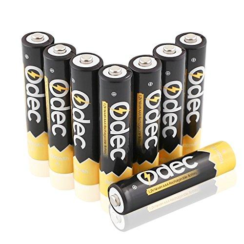 Odec AAA Ni-MH Batteria Ricaricabile, 1,2V 1000mAh Pila...