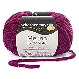 Schachenmayr since 1822 Merino Extrafine 40, 9807555-00333, color: Burgundy, presentación: 50g, Hilos para tejer a mano