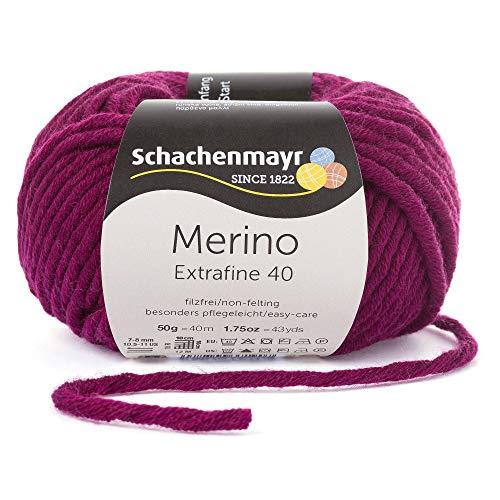 Schachenmayr Merino Extrafine 40 9807555-00333 burgund Handstrickgarn, Schurwolle