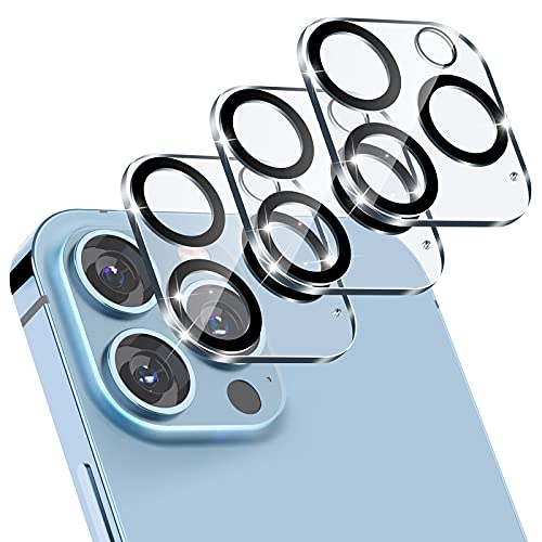 FITA [3 Pack] Protector de Lente de Cámara Compatibile con iPhone 13 Pro/13 Pro Max Protector de Pantalla, [Anti-Arañazos, Dureza 9HD] Cristal Templado Cámara Trasera Lente Protector