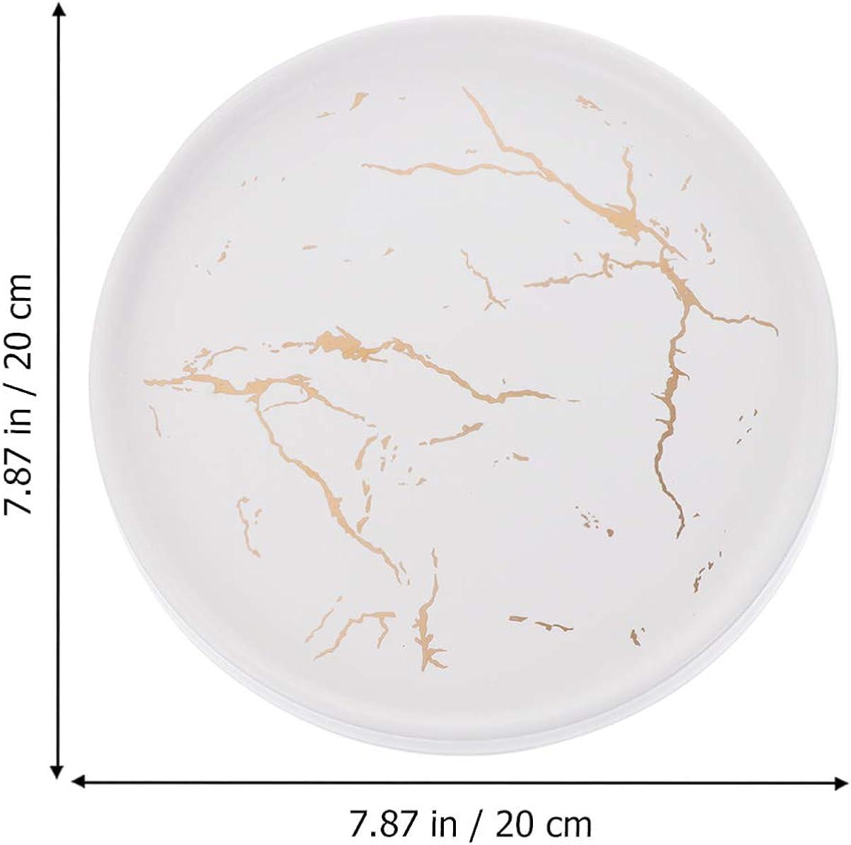 motivo: piastrina di marmo Cabilock porta soprammobile in porcellana Portagioie in ceramica stile nordico anello portabraccialetto 20 cm a righe
