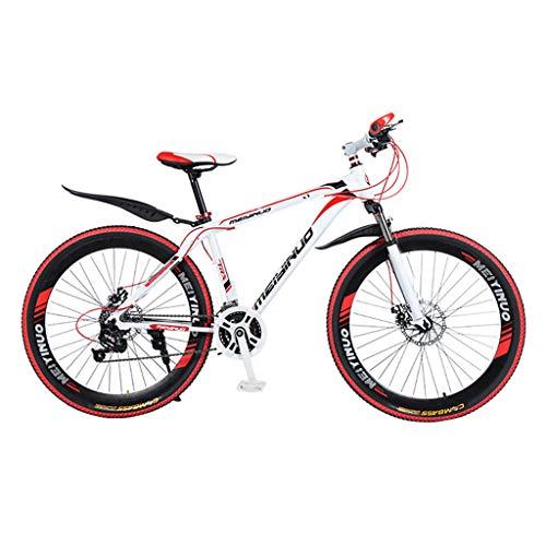 Alu Mountainbike - 26 Zoll MTB Fahrrad mit 21-Gang, Jugendfahrrad Kinder Fahrrad Scheibenbremse 40 Speichenrad für Herren und Damen