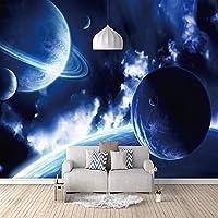 壁紙壁画ウォールステッカー ブループラネット DIYアートプリントウォールミューラルリビングルームベッドルームのテレビの背景のための装飾のポスター画像3Dモダンデザイン-200x150 Cm (WxH)