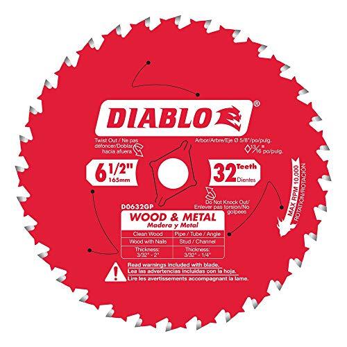 Diablo 6-1/2 in. x 32-Teeth Wood and Metal Saw Blade