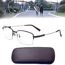Reading Glasses German Smart Glasses, Zoom Presbyopic Glasses Multifocal Anti Blue Light for 50-80 Oldies