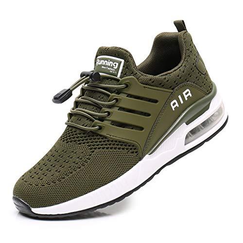Zapatillas de Deporte Hombre Mujer Ligero Zapatos para Correr Respirable Running Bambas Calzado Deportivo Andar Crossfit Sneakers Gimnasio Casuales Fitness Outdoor Antideslizante Green35