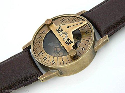 Orologio da polso meridiana in ottone massiccio meridiana bussola polso