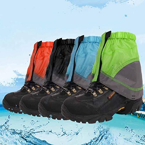 VORCOOL Outdoor Wasserdichte Gamaschen Leichte Nylon Wandern Boot Gamaschen Sand Schlamm Prävention Gamaschen (Schwarz)