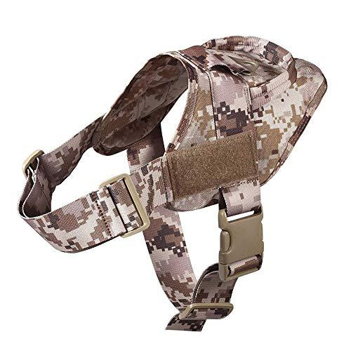 epoxios Arnés táctico militar para perro Patrulla K9 Trabajando Pet Collar Pequeño Grande Perro Arnés Servicio Perro Chaleco Con Mango Productos Para Mascotas (L,ACU)