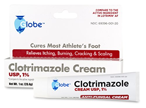 Clotrimazole Antifungal Cream 1% USP 1 Oz, Compare to Lotrimin Active Ingredient (1 Tube/Pack)