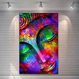 T-YIFUZX DIY Pintar por números Sin Marco Arte Buda Pintura Color salón Entrada Dormitorio Arte de la Pared 40x50cm