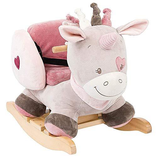 Nattou Dondolo per bambini Jade L'Unicorno, 10-36 mesi, 62 x 32 x 52 cm, Beige/Rosa, 987301
