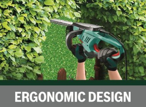 Bosch AHS 70-34 Hedgecutter (blade cover, cardboard box, 700 W, 700 mm blade length, 34 mm tooth spacing)