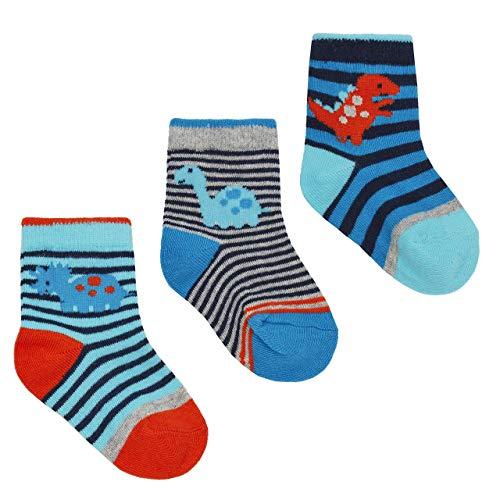 Babys 3 Packung Dinosaurier Design Socken - Dinosaurier Packung A, EU 15-18.5
