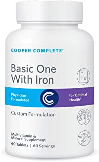 Cooper Complete - Basic One Multivitamin with Iron - Daily Multivitamin and Mineral Supplement with Iron - 60 Day Supply