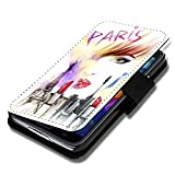 Book Style Flip Handy Tasche Hülle Schutz Hülle Schale Motiv Foto Etui für LG Bello 2 / Bello II - Flip A52 Design8