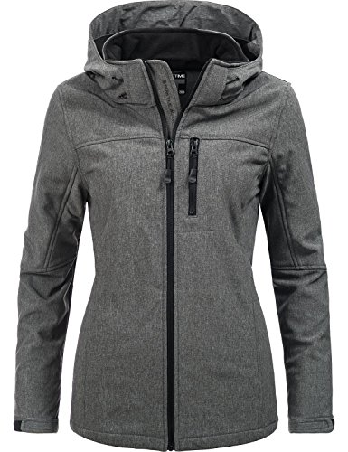 Peak Time Damen Übergangs-Jacke Softshelljacke L60028 Grau Gr. 46