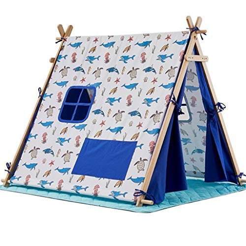 ANQIY Arts Play Tent, Indoor Princess It Can Move Convenient Storage Cotton Canvas Game House Reading Corner Boy Castle Children (Color : C, Size : #2)