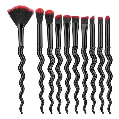 10 Pcs Pinceau Make Up Maquillage Brosses Ensemble,Feifish Mode Conception Poignée Forme Make Up Brosses pour Fondation Sourcils Eyeliner Blush Cosmétique Concealer