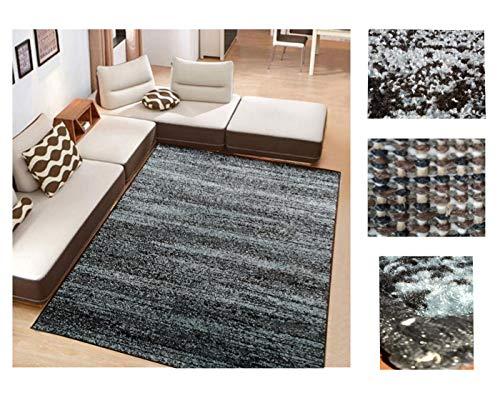 COMERCIAL CANDELA FELPUDOS Y ALFOMBRAS Alfombra de Salón Frise Pelo Largo Tupido Moderno Jaspeado Color (Turquesa, 133_x_190 CM)