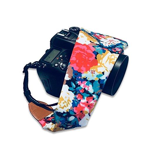 HOT SEAL シェブロンスカーフ スーパー快適な カメラストラップ (花柄)