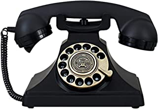 PPCP Wired Telephone Home Metal Retro Telephone Vintage Turntable Dial Deluxe Edition Fixed Telephone