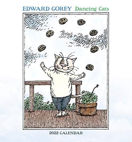 Edward Gorey- Dancing Cats 2022 Mini Wall Calendar