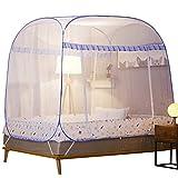 Mosquitera emergente, tienda de campaña para repelente de insectos portátil plegable completo, decoración de dosel de cama gigante, instalación sencilla y fácil con bolsa de transporte, 195120155cm