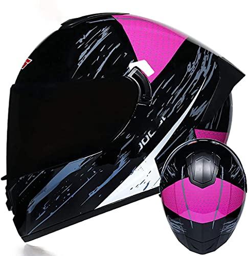 VERDELZ Casco de motocross modular para hombre y mujer, ECE/DOT con doble visera antivaho, para motocicleta y ciclomotor, para carreras de calle, casco de crash