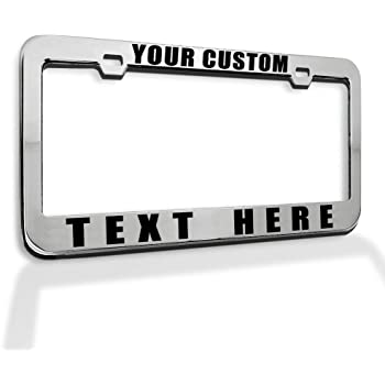 Customized Frames Personalized License Plate Frame Car License Plate Cover for Both Front and Back License Tag Aluminum Metal License Plate Frame