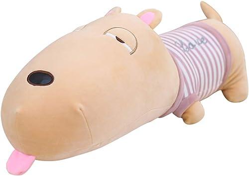Fenfen-toy Schlafender Hund, der Kissen umarmt Weißes angefülltes Tierspielzeug scherzt Weißes Plüsch-Spielzeug-Kissen-Baby-Puppe für Jungen mädchen Kindergeburtstagsgeschenke (Größe   10cm  )