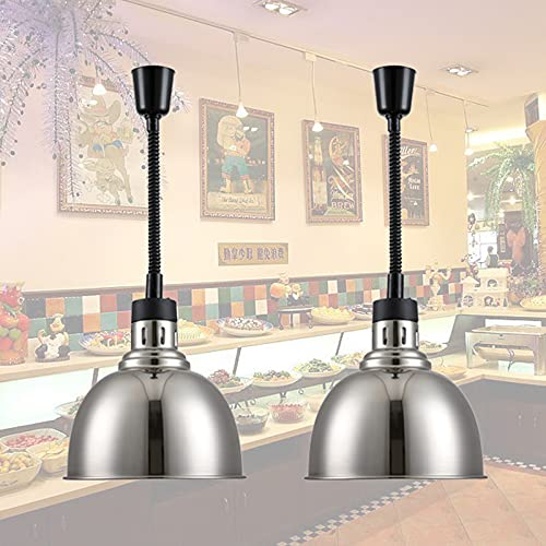 Cocina Profesional Food Lámpara Infrarroja, Telescópica Comercial Lámpara de Calor de Alimentos, Calentador de Comida De Platos, Mantenga la Comida Fresca 250W